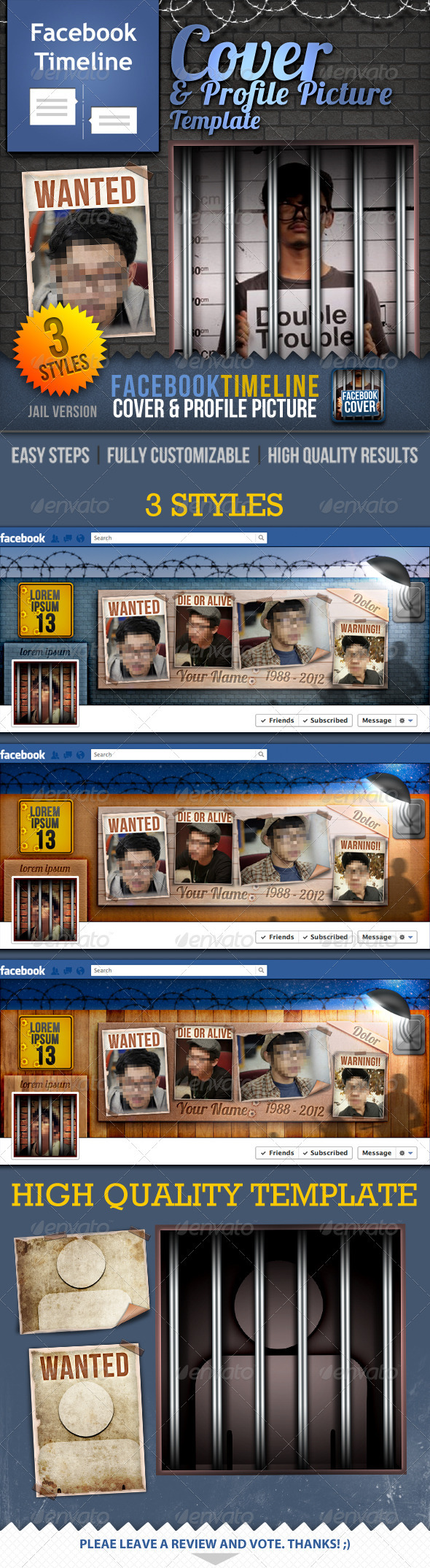 Facebook Timeline Cover & Profile Picture: Jail - Facebook Timeline Covers Social Media