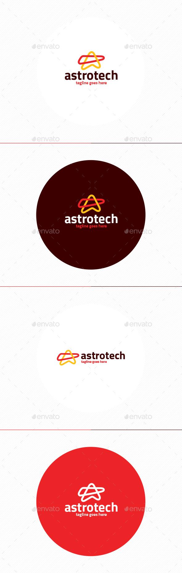 Astro Tech Logo • Letter A - Letters Logo Templates
