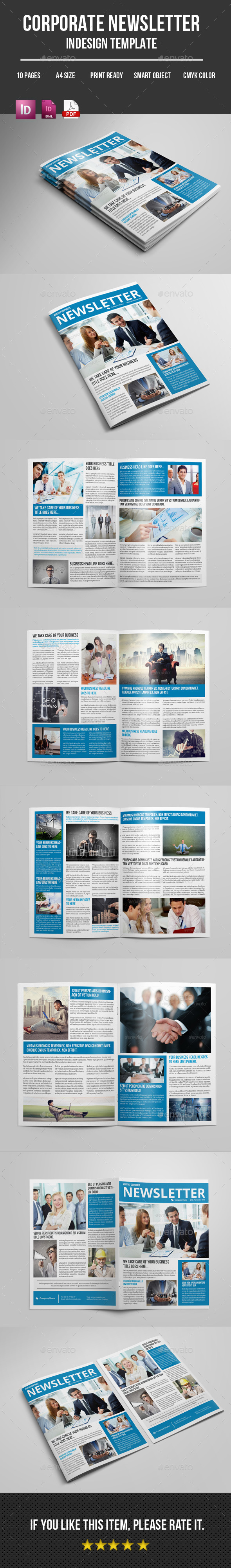 Business Newsletter Indesign Template - Newsletters Print Templates