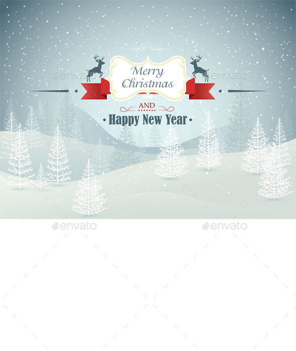 Merry Christmas Forest Winter Landscape  - Christmas Seasons/Holidays