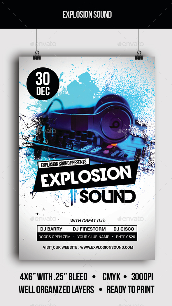 Explosion Sound - Flyer - Clubs & Parties Events