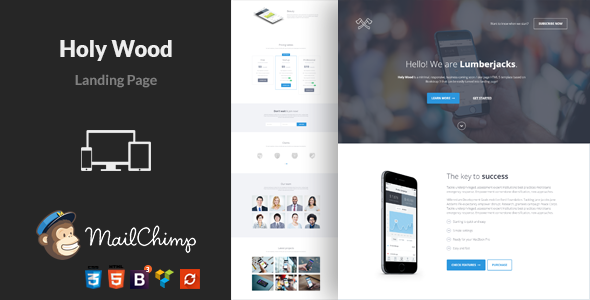 Holy Wood – Multipurpose WordPress Landing Page