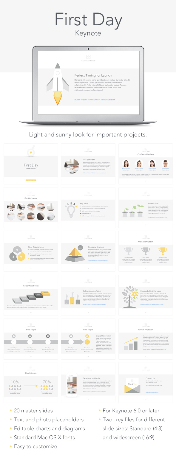 First Day Keynote Template - Keynote Templates Presentation Templates