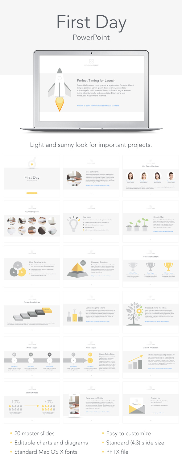 First Day PowerPoint Template - PowerPoint Templates Presentation Templates