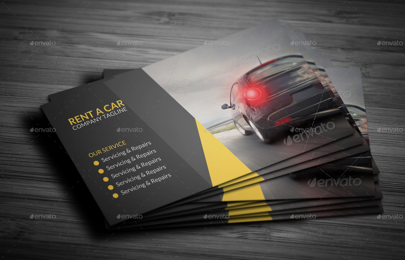Rent a car business card by vejakakstudio graphicriver rent a car business card creative business cards preview01g preview02g colourmoves