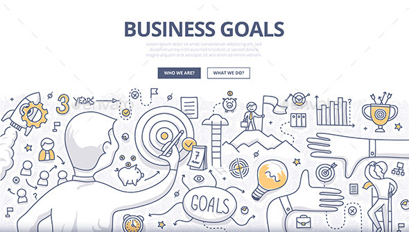 Business Goals Doodle Concept - Concepts Business