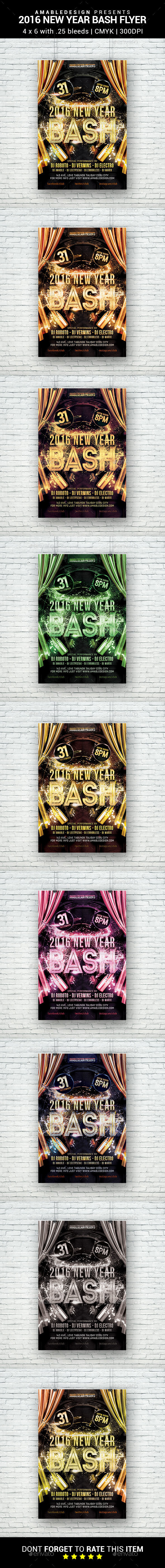 2016/2017 New Year Bash Flyer - Holidays Events