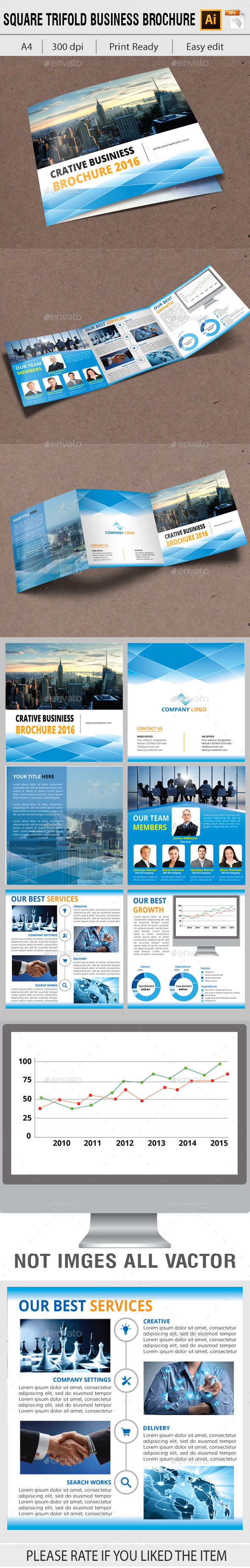 Square Corporate Trifold - Corporate Brochures