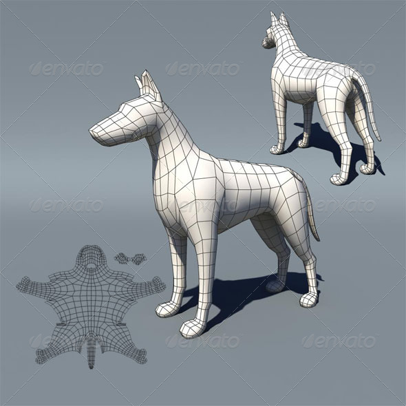 Lowpoly Dog - 3DOcean Item for Sale