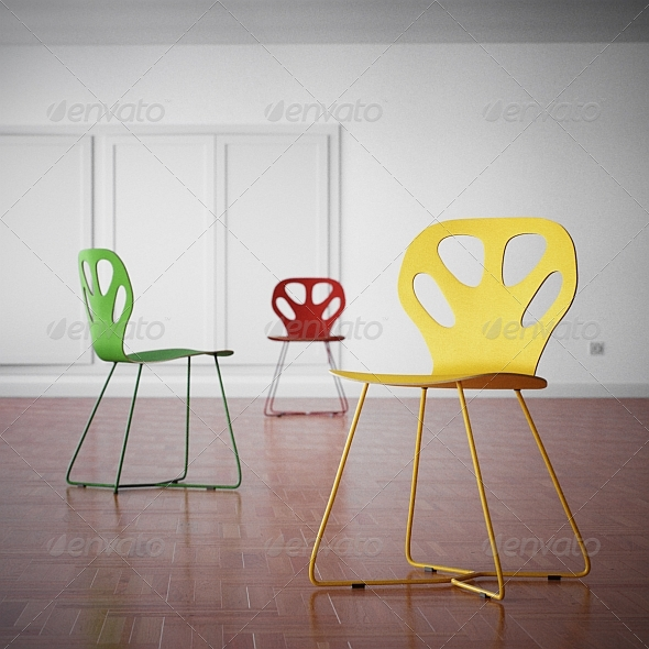 Iker Maple Chair - 3DOcean Item for Sale