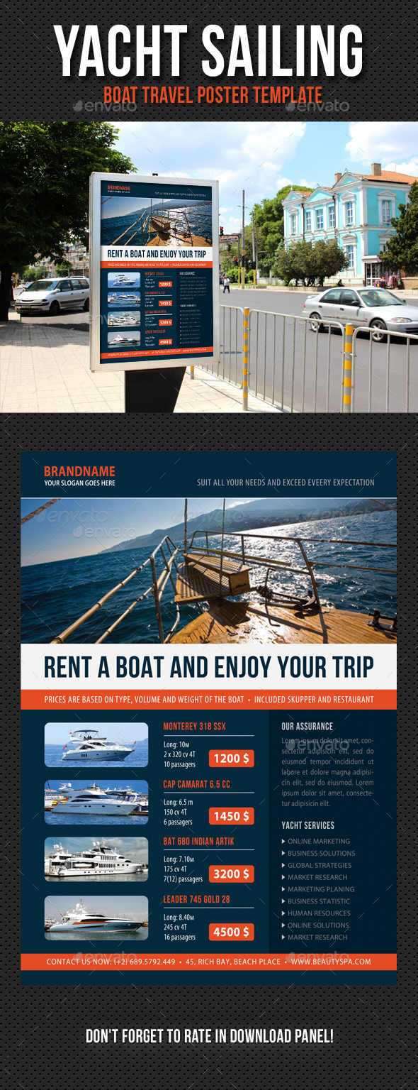 Yacht Sailing Poster Template V02 - Signage Print Templates