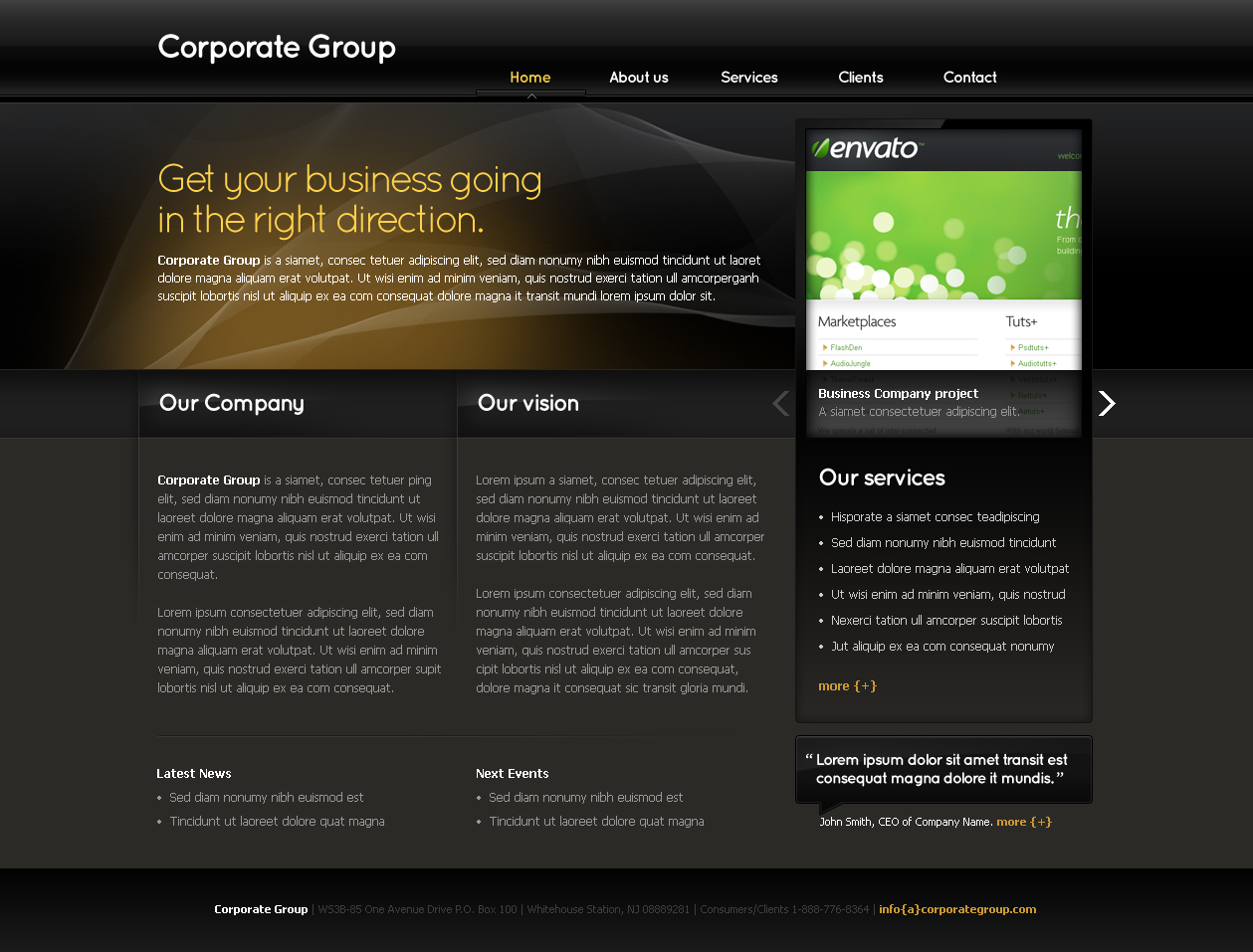 Free Download Business Template #03 Nulled Latest Version