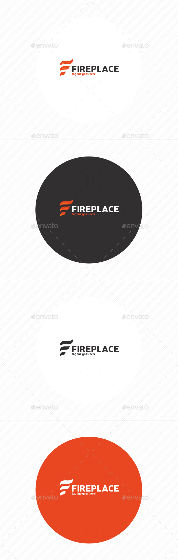 Fire Place Logo • Letter F - Letters Logo Templates