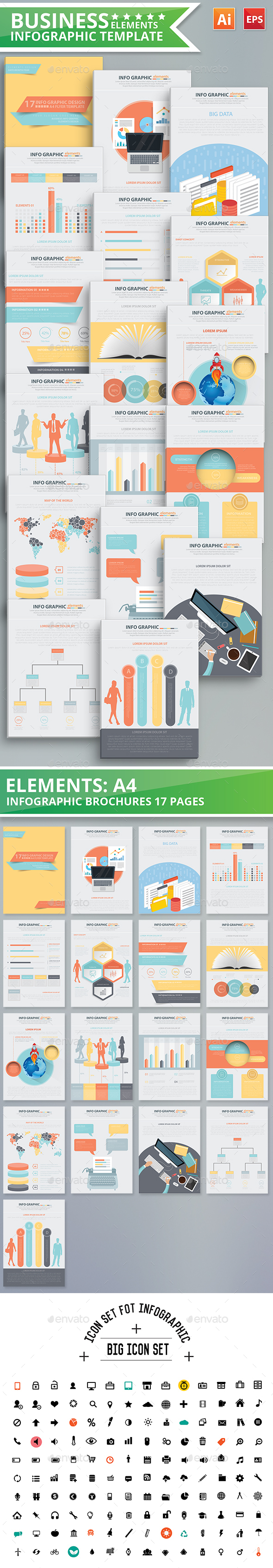 Business Infographic Elements Design - Infographics