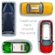 Traditional Taxis Around the World - GraphicRiver Item for Sale