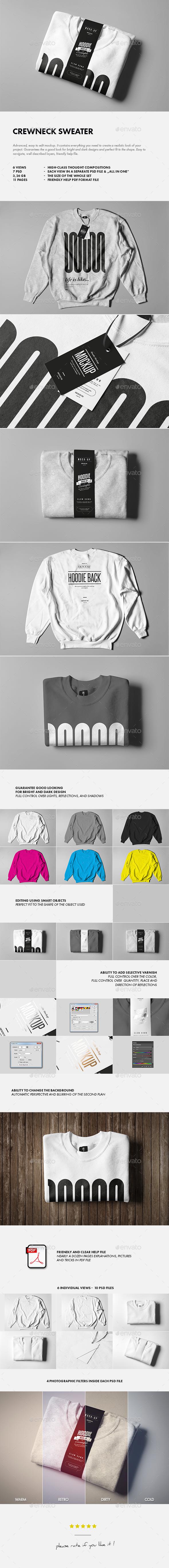 Crewneck Sweater Mock-up - T-shirts Apparel