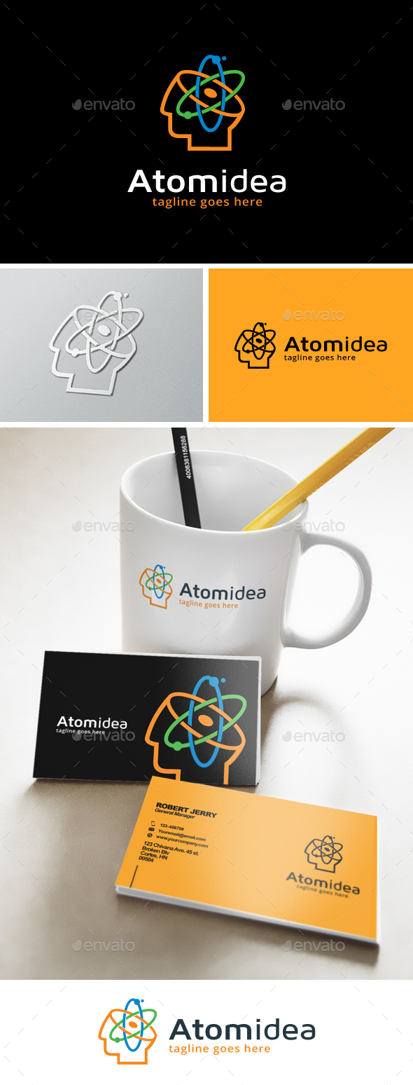 Atomic Idea Logo - Humans Logo Templates