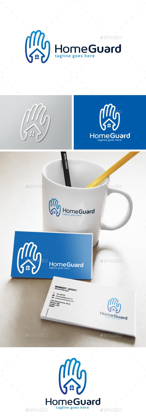 Home Guard Logo - Buildings Logo Templates