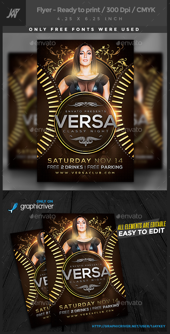 Versa Classy Party Flyer - Clubs & Parties Events