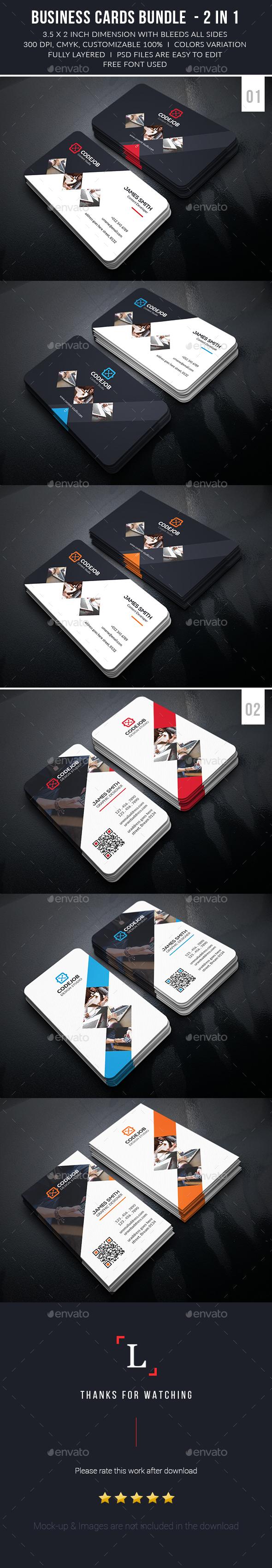 Corporate Business Cards Bundle - Business Cards Print Templates