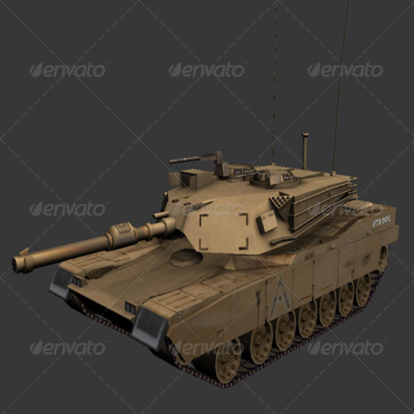 M1 Abrams - Tank - 3DOcean Item for Sale