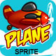 Tiny plane sprite animation - GraphicRiver Item for Sale