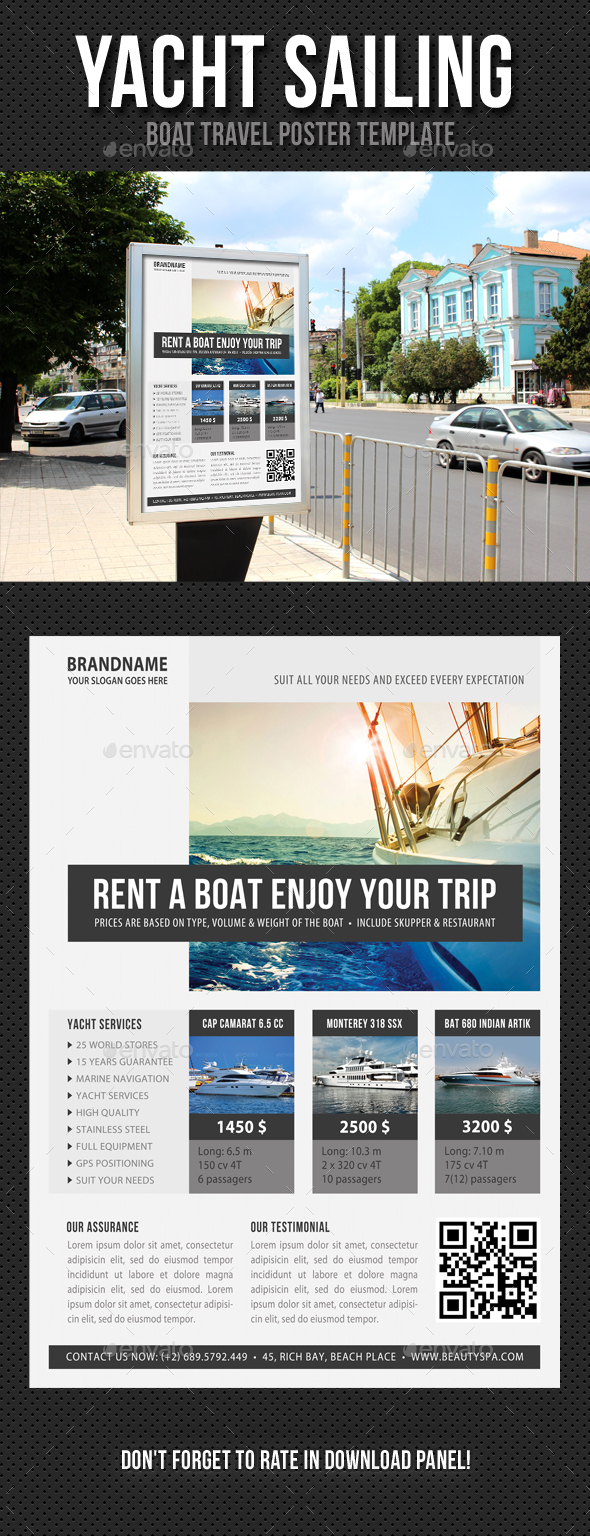 Yacht Sailing Poster Template V04 - Signage Print Templates