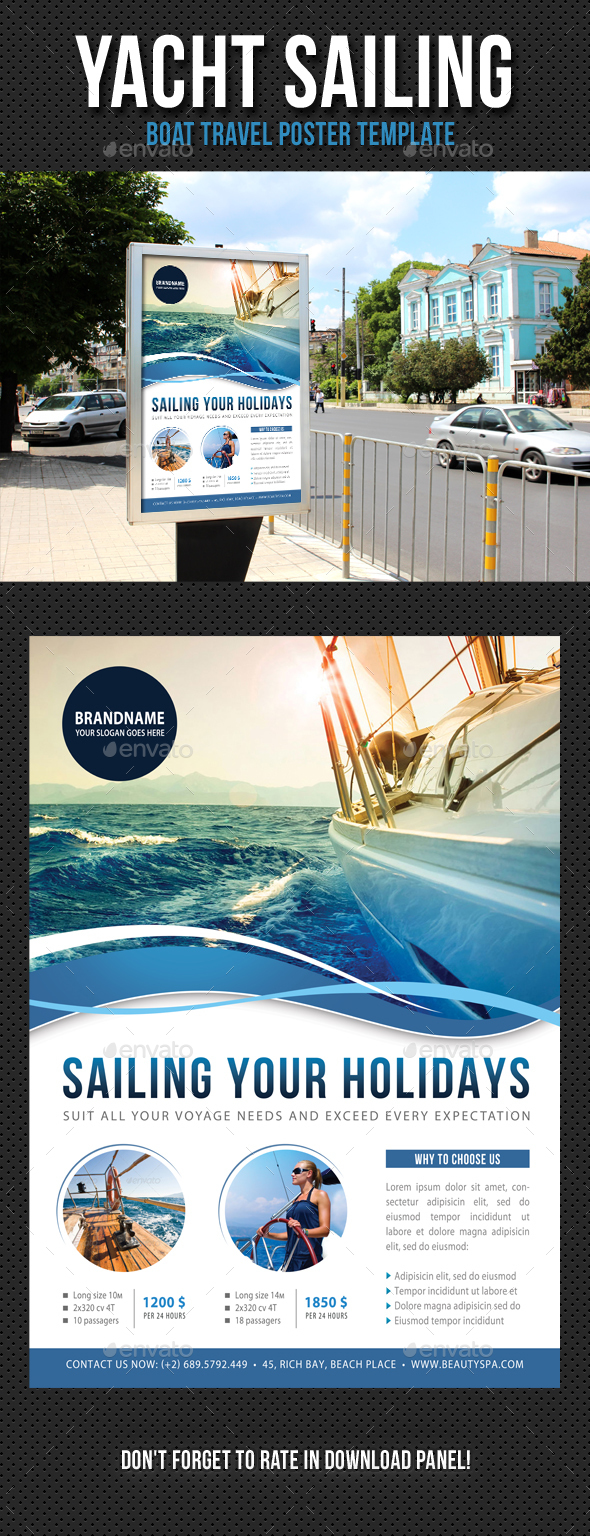Yacht Sailing Poster Template V05 - Signage Print Templates