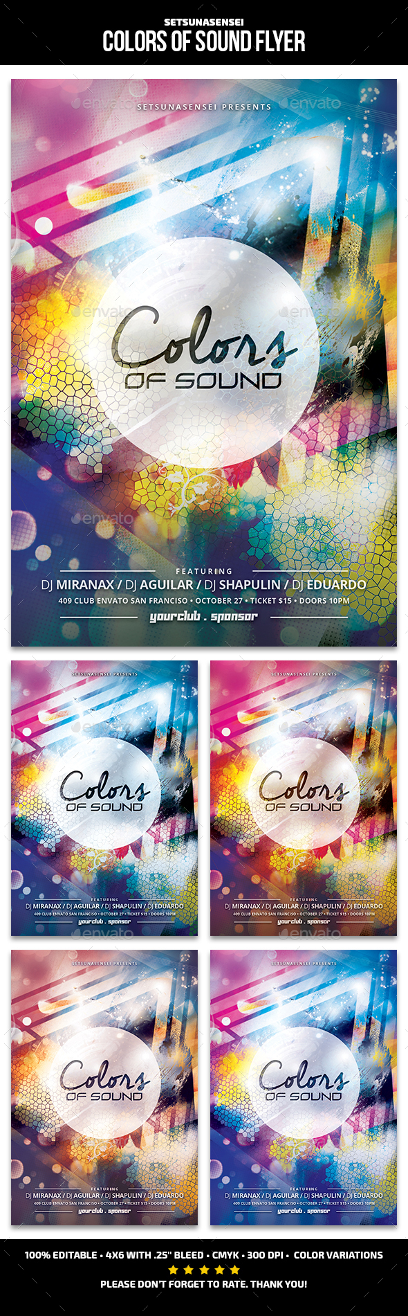 Colors of Sound Flyer - Clubs & Parties Events