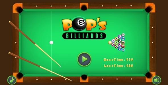 POP's Billiards - HTML5 Game + AdMob (Capx) - CodeCanyon Item for Sale