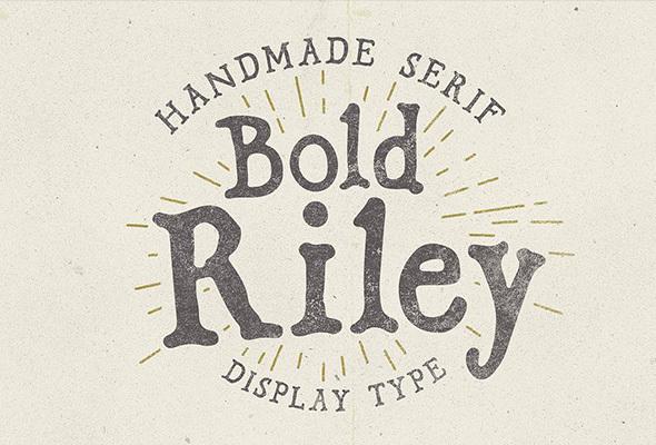 Bold Riley handmade serif typeface - Serif Fonts