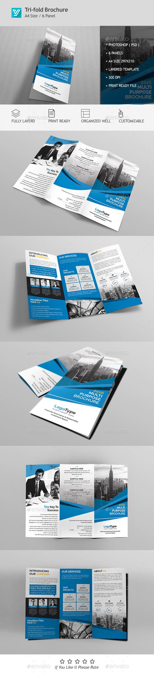 Corporate Tri-fold Brochure Template 03 - Corporate Brochures