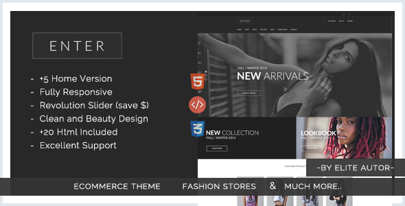 Enter – eCommerce Fashion Responsive html5 template