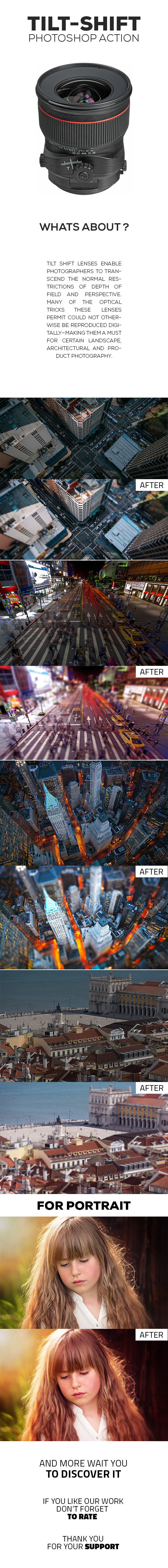 Pro Reflex Tilt-Shift Photoshop Action - Photo Effects Actions