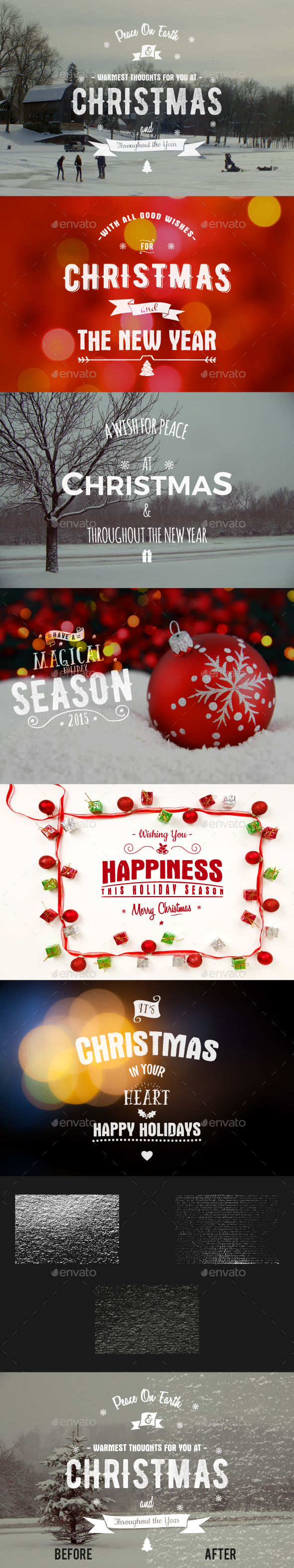 Christmas & New Year Photo Overlays - Badges & Stickers Web Elements