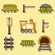 Railroad Hand Drawn Stickers - GraphicRiver Item for Sale