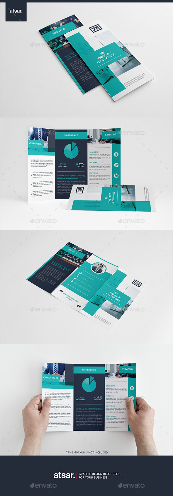 Bright Blue Trifold - Corporate Brochures
