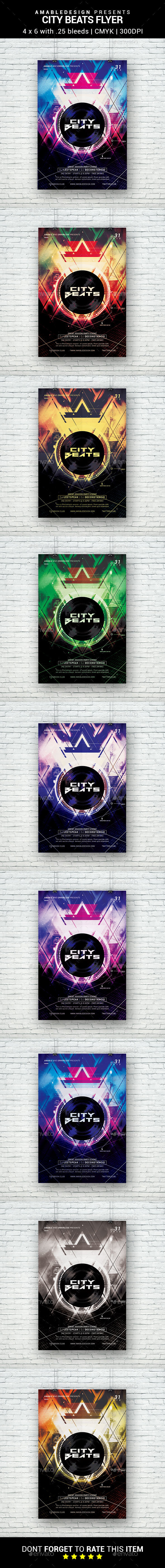 City Beats Flyer - Clubs & Parties Events
