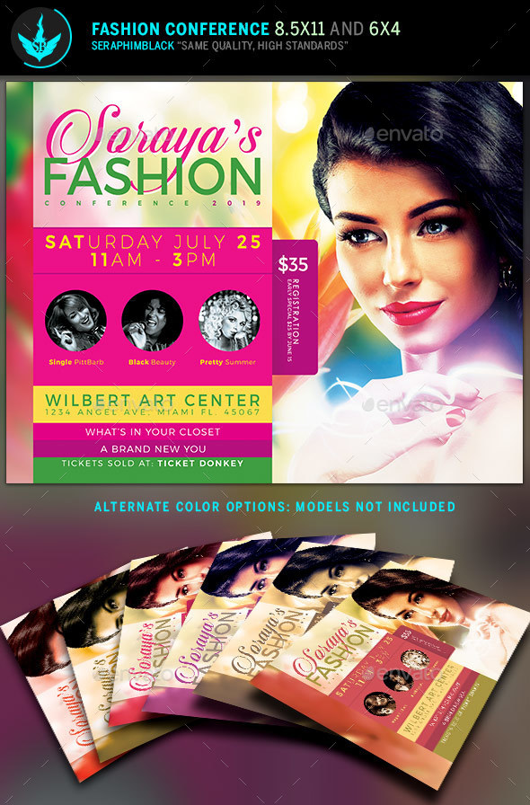 Fashion Conference Flyer Template - Church Flyers