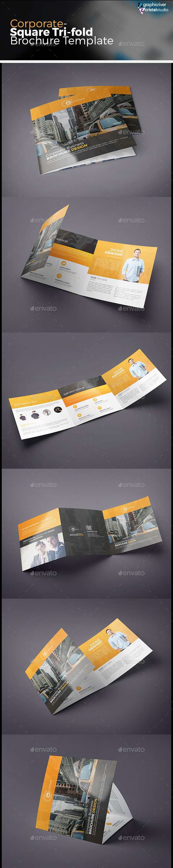 Tri-fold Square Brochure - Corporate Brochures