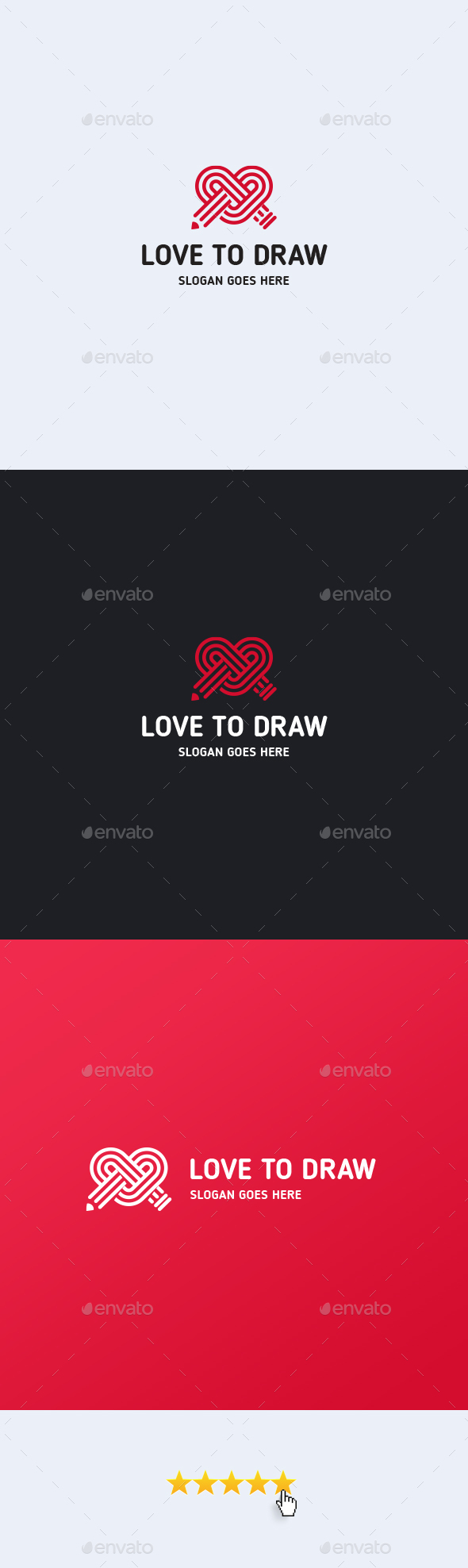 Love To Draw Logo Template - Symbols Logo Templates