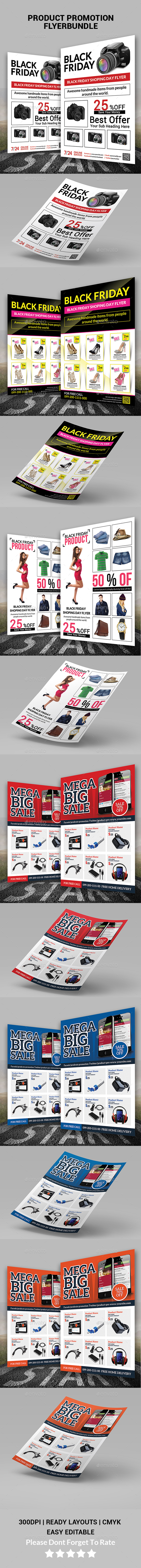 Product Promotion Flyer Bundle Print Templates - Corporate Flyers