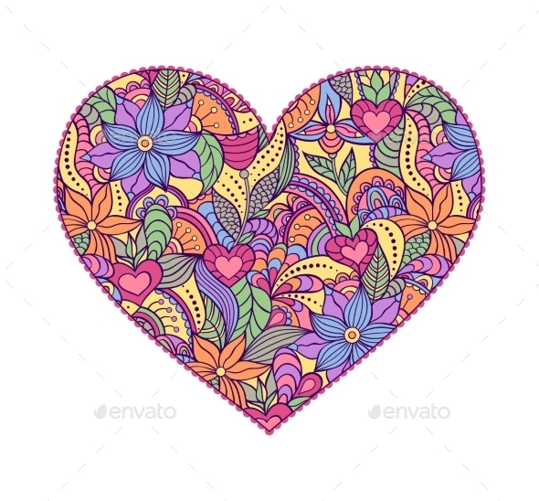 Abstract Heart - Decorative Symbols Decorative