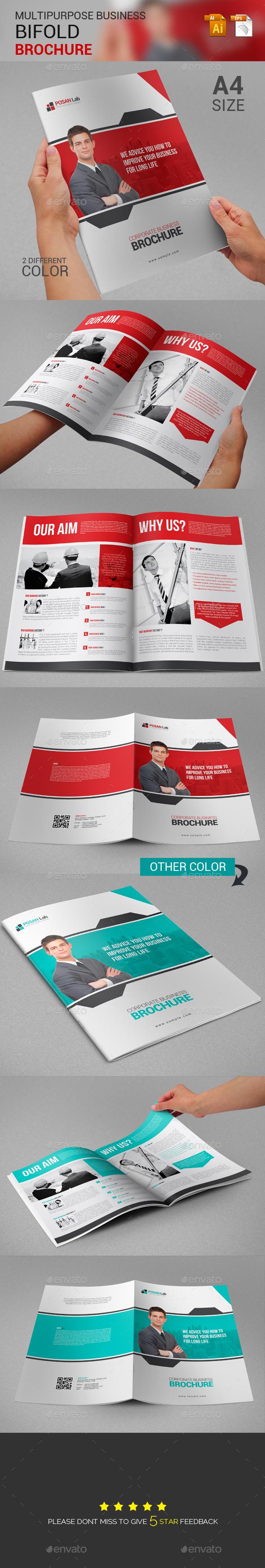 Bifold Corporate Business Brochure  - Brochures Print Templates
