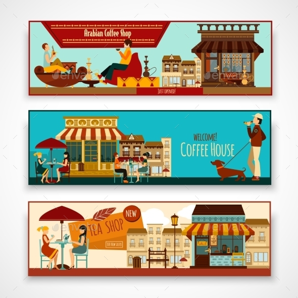 Shops Banner Set - Buildings Objects