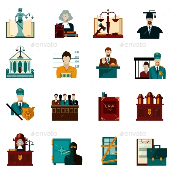 Law Icons Set - Objects Icons