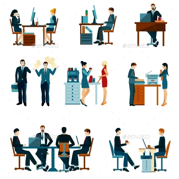 Office Worker Icons - Concepts Business