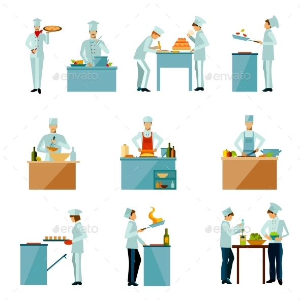 People Cooking Set - People Characters