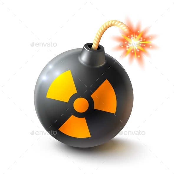 Bomb Realistic Illustration  - Man-made Objects Objects