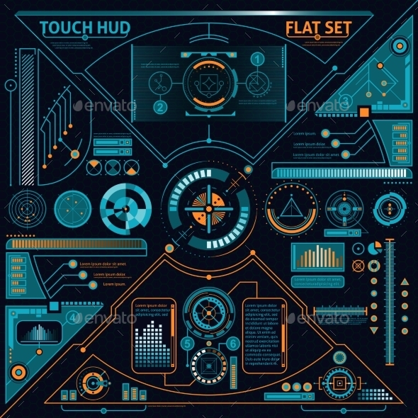 Touch HUD Set - Computers Technology